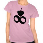"""I Love Infinity"" T-Shirt on Zazzle"