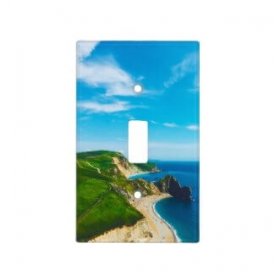 Ocean Cliffs and Shoreline Seashore Blue Sky Light Switch Plate